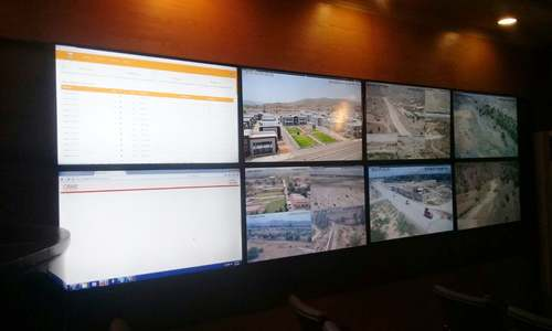 A view of the monitoring centre in Miramshah. — Photo by Author