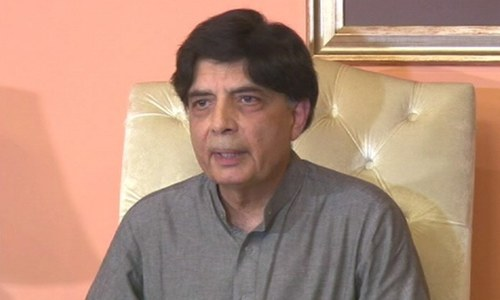 Could have taken 40 to 45 MNAs and left, but I am no conspirator: Chaudhry Nisar