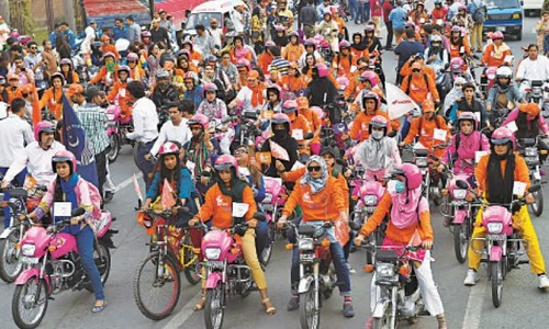 700 women handed over bike keys under Women on Wheels