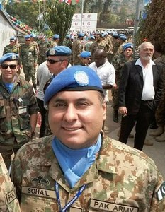 Col Sohail Abid of Military Intelligence. Photo: ISPR