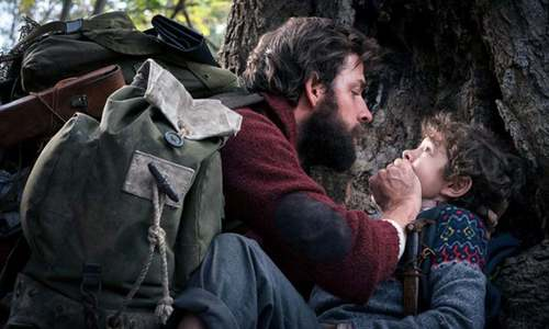 A quiet place: A horror film about terrifying monsters