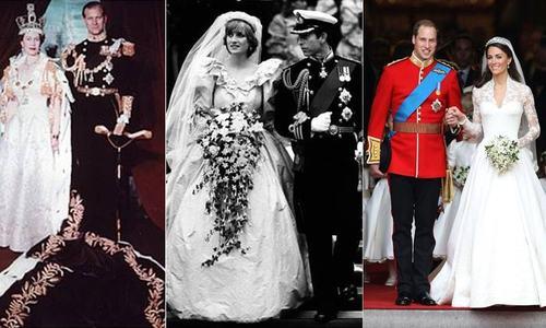 برطانوی شاہی شادی: یادگار عروسی جوڑے