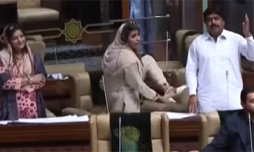 Rumpus in PA as opposition lawmaker shows her shoe to speaker
