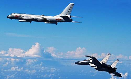 Chinese bombers make debut landing on disputed island