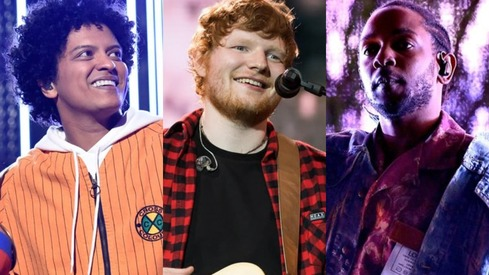 Kendrick Lamar, Ed Sheeran and Bruno Mars win big at the Billboard Music Awards
