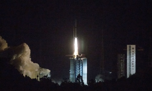 China launches relay satellite for far side moon landing