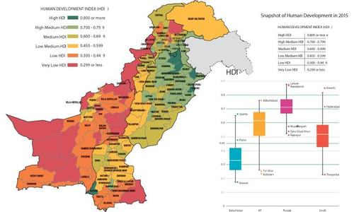 What does the UNDP's National Human Development Report actually say about Pakistan?