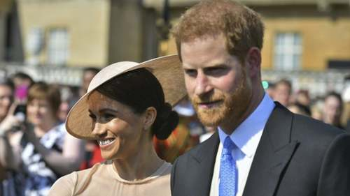 Prince Harry and Meghan Markle make their first public appearance as newly weds