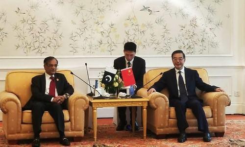 CJP Nisar meets Chinese counterpart in Beijing