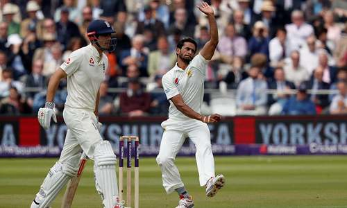 England 72-3 against Pakistan in Lords' Test