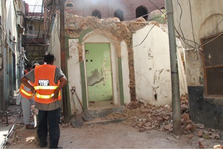 Local authorities demolish Ahmadis' 'historical' building, mob vandalises place of worship