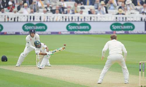 Babar helps Pakistan surpass England at Lord's