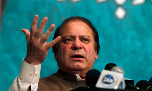 Nawaz forced  to cancel address to rally