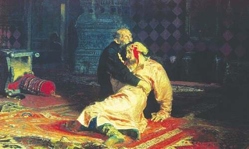 Ivan the Terrible painting vandalised at Moscow gallery