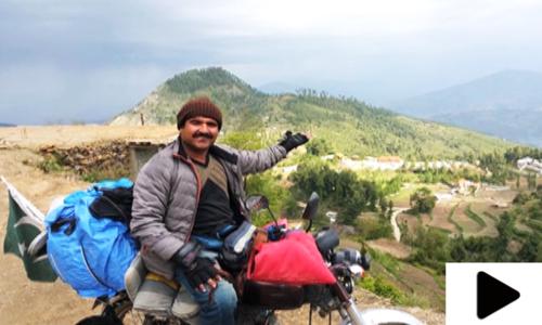 موٹر سائیکل پر پاکستان کا منفرد سفر
