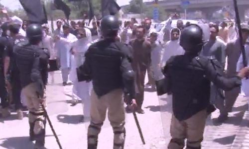 پشاور:فاٹا اصلاحات بل کی منظوری، جمعیت علمائے اسلام (ف) کا احتجاج