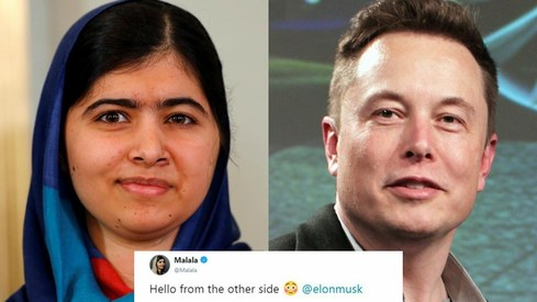 Malala and Elon Musk are now Twitter buds and we're kinda pleased