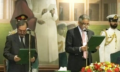 Former chief secretary Fazalur Rahman takes oath as Sindh caretaker CM
