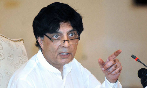 Nisar files nominations for four NA, PA seats