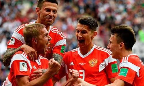 ورلڈ کپ میں روس کا فاتحانہ آغاز، سعودی عرب کو 0-5 سے شکست