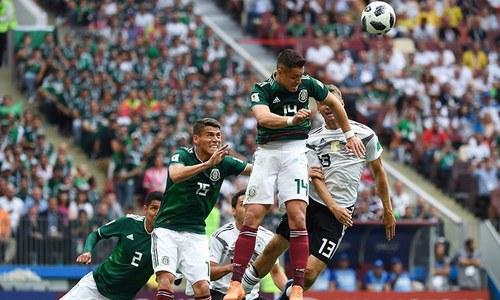 دفاعی چمپیئن جرمنی کو میکسیکو سے شکست
