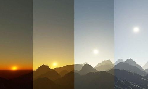 کبھی سوچا! آسمان رات میں سیاہ، دن میں نیلا اور شام میں سرخ کیوں ہوتا ہے؟