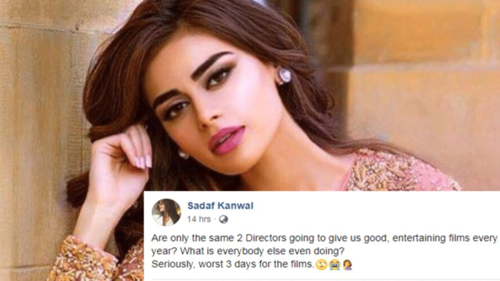 Model Sadaf Kanwal is not happy with the Pakistani movies she watched on Eid