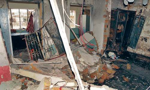 Four injured in gas explosion