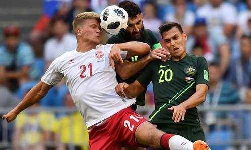 ورلڈ کپ: ڈنمارک اور آسٹریلیا کا میچ 1-1 گول سے برابر