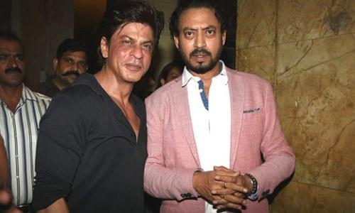 جب شاہ رخ بیمار عرفان خان کی مدد کو پہنچے