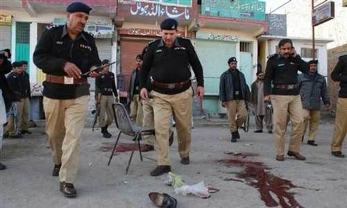 Blast targeting police vehicle injures six, including three policemen