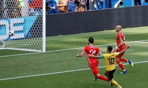 ورلڈ کپ میں تیونس کو بیلجیئم کے خلاف 2-5 سے شکست