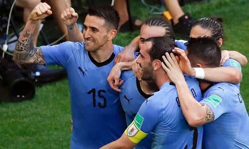 روس کو 0-3 سے شکست، گروپ اے میں یوراگوئے سرفہرست