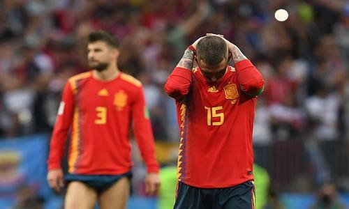 فٹ بال ورلڈ کپ: سنسنی خیز مقابلے میں روس نے اسپین کو باہر کردیا