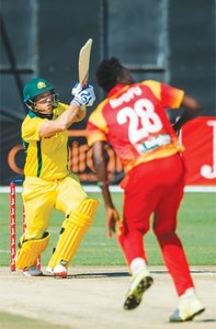 Finch stars as records tumble in Aussie rout of Zimbabwe