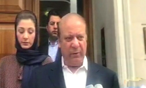 Nawaz says NAB court should delay verdict in Avenfield case till he returns to Pakistan
