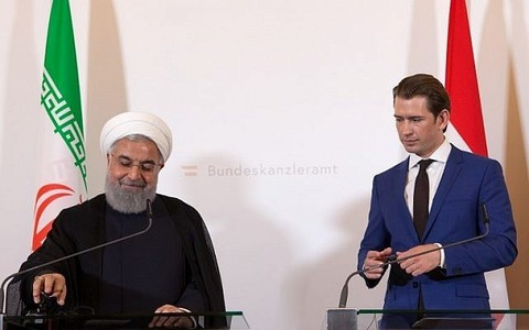 Rouhani in Vienna to shore up nuclear deal, dogged by diplomat's arrest