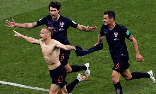میزبان روس کو شکست دے کر کروشیا ورلڈ کپ سیمی فائنل میں
