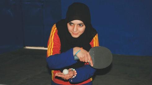 Pakistani table tennis star Iqra Rehman is helping other girls take up the sport