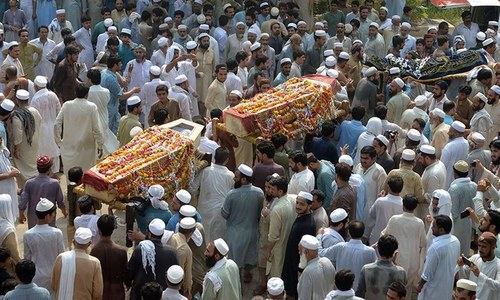 TTP claims responsibility for Peshawar blast; ANP's Haroon Bilour laid to rest