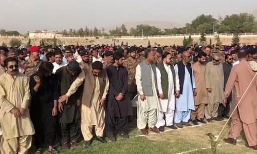 سانحہ مستونگ میں جاں بحق سراج رئیسانی کی نماز جنازہ ادا