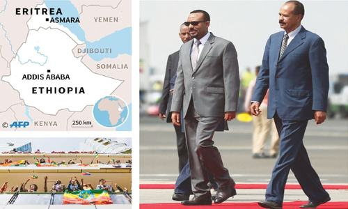 Eritrea president hails unity with Ethiopia on historic visit