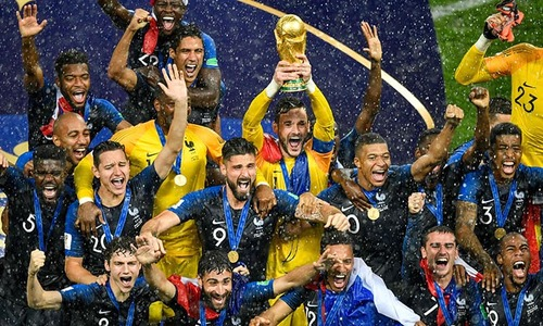 In pictures: Celebrations as France win second World Cup after Moscow thriller