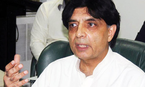Nisar saddened to see Nawaz in jail