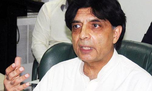 Nisar saddened to see Nawaz in jail