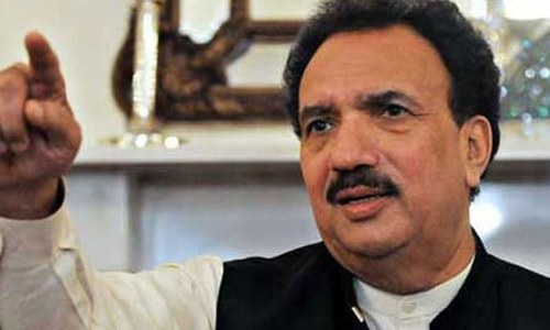 رحمٰن ملک کا پرویز خٹک کے 'ڈرگ ٹسیٹ' کرانے کا مطالبہ