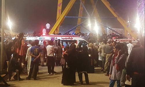 عسکری پارک میں حادثہ بولٹ ٹوٹنے کی وجہ سے پیش آیا، رپورٹ