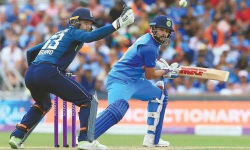 Willey, Rashid help England restrict India to 256-8