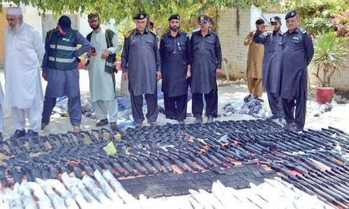 Over 300 repeater guns seized at Torkham