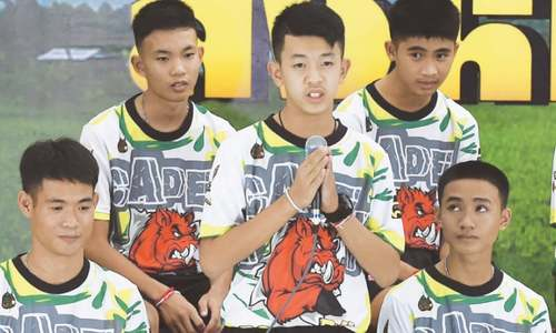 Thai cave boys speak of 'miracle' rescue after hospital discharge